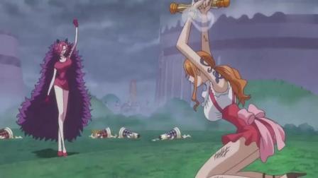 路飞身体达到极限, 娜美送上神助攻!