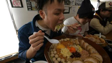 日本大胃王, 吃超大碗的拉面, 约13斤重, 这一碗够好几个人吃了!