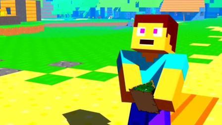 我的世界: mc动画, 假如史蒂夫偷偷掌控着整个我的世界