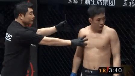 裁判都看不惯无赖韩国人打后脑, 中国拳王暴打他至昏迷!