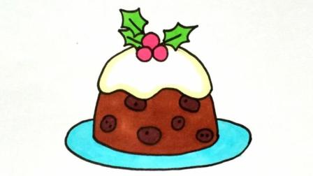 宝宝爱画画第104课 巧克力蛋糕简笔画步骤, 好吃的蛋糕画法大全, 生日蛋糕绘画图片教程