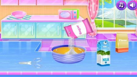 小朋友们快来制作水果冰激凌奶油蛋糕