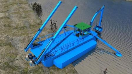 中国挖泥船禁止出口德国只好自己研发, 能水路两栖就是效率差点!
