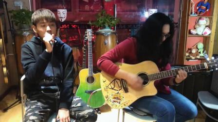 民谣吉他弹唱陈奕迅《你的背包》吉他饭饭君