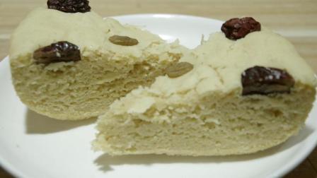 3分钟学会奶香玉米面发糕的做法, 松软如蛋糕, 一次吃了四五块!