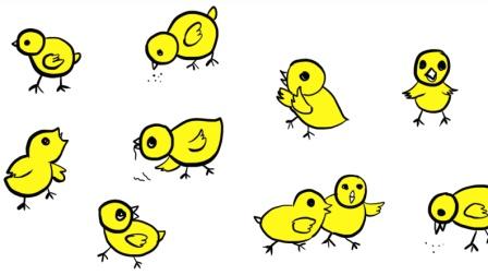 10种小鸡简笔画大全丨教小朋友这样画小动物更简单、亲子绘画涂鸦上色玩, 宝妈收藏教宝宝
