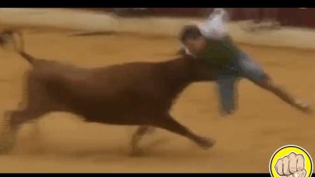 超精彩的一场西班牙斗牛, 参与者不光有斗牛士, 观众也开始疯狂啦