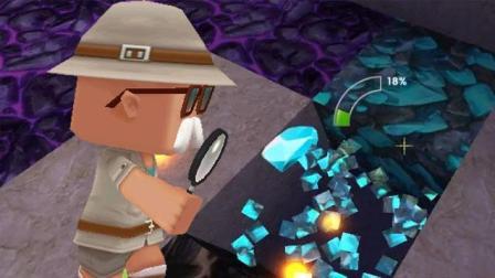 迷你世界联机 汤米又去挖钻石, 10颗钻石抱回家