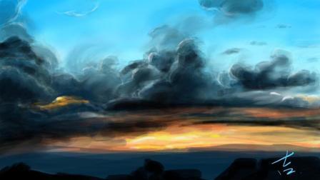 【iPad + Procreate 绘画】《你听我画》第一期 这片浮云