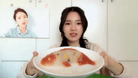 """试吃鱼型的""""红枣糯米饭"""", 外形像一条鱼一样, 过年吃准没错了"""