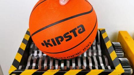 当篮球遇上粉碎机会怎样? 粉碎机能把篮球吞掉吗? 一起见识下!