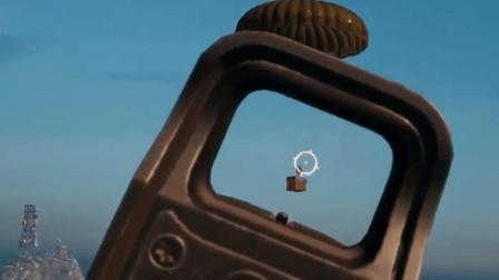 绝地求生: 玩家幸运的站在空投上! 千米高空摔下