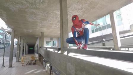 蜘蛛侠现实生活中跑酷, 群众一脸茫然