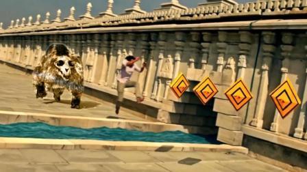 超级有趣, 小伙舍命演绎真人版《神庙逃亡》