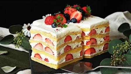 【喵博搬运】【食用系列】内有丰富草莓夹心的草莓蛋糕╰(●'◡'●)╮(熟肉)