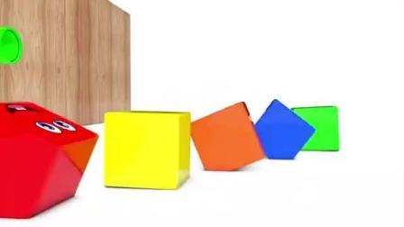 益智动画  大象打翻盒子变出夹心饼干学习颜色形状