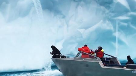 户外探险牛人驾船畅游北极 徒手接冰川融水解渴