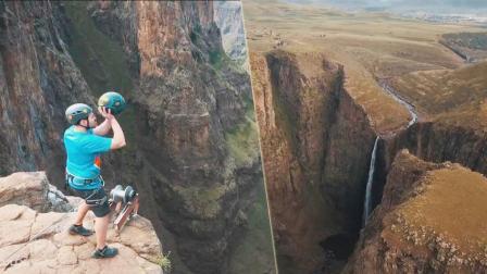牛人200米瀑布顶神准投篮 球进的那一刻人疯了