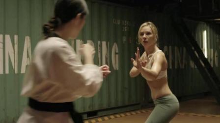 女子格斗比赛, 武当派对跆拳道, 动作也是相当强悍!