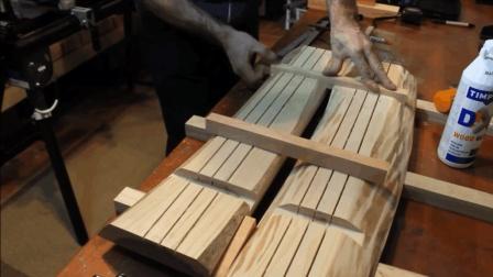 小伙制作一个实木桌子, 创意不错, 可桌腿还是被人吐槽不断