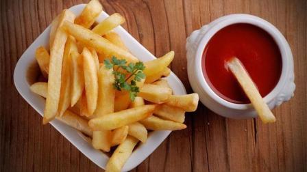 无硼砂, 万能小苏打自制番茄酱史莱姆, 配上香脆的薯条, 酸甜诱人轻松完成