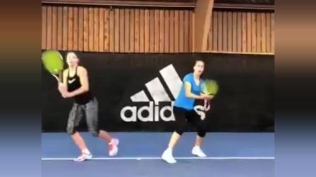 海特网球教学-双人前后多球训练