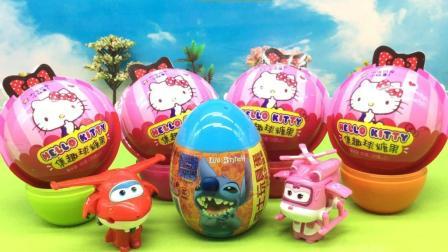 糖糖超级飞侠玩具 超级飞侠拆史迪奇凯蒂猫奇趣蛋 拆史迪奇凯蒂猫奇趣蛋