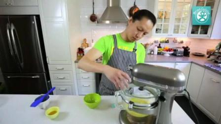烤箱8寸蛋糕制作方法 12寸戚风蛋糕配方 蛋糕烘焙班
