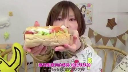 大胃王木下: 新登场的潜艇堡12个加上各种蔬菜汤