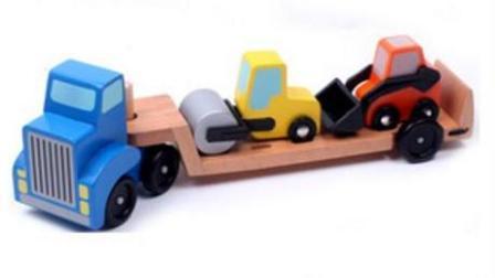 赛车总动员 挖掘机 推土机 吊车 大卡车 汽车总动员动画片 卡通小卡车竞速