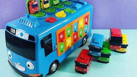 大巴车去不同的地方接小动物们上车