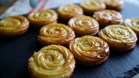 【小豆包美食】情人节的一道风景——玫瑰花饼干, 一分钟学会!