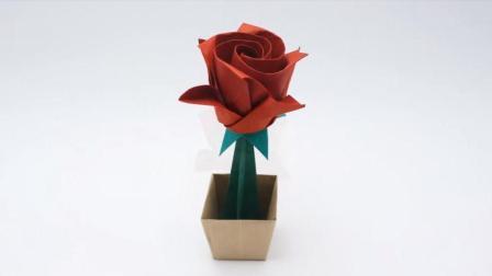 纽扣创意: 自己动手折的玫瑰花, 表白成功率暴涨!