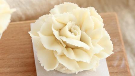 小包子的裱花课堂 豆沙裱花 栀子花