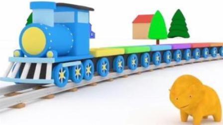 恐龙戴诺迷路搭上了要去卡通乐园的托马斯小火车 侏罗纪恐龙乐园