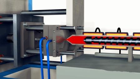 注塑机是如何工作的? 3D动画展示其机械原理, 这回总算看明白了