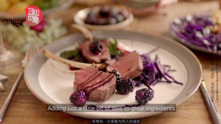 智慧之树顶级创意三文鱼煎鹿肉架腌酸黑莓再增加一点爱做为伟大的成份
