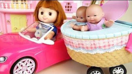 0361 - 婴儿娃娃篮车玩具娃娃多利野餐玩