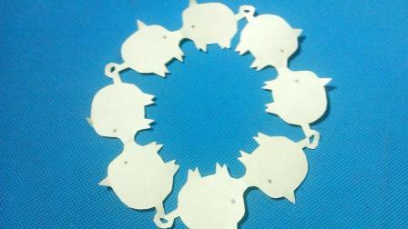 剪纸小课堂小猪, 儿童喜欢的手工DIY剪纸, 动手又动脑