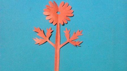 剪纸小课堂朱瑾花, 儿童喜欢的手工DIY剪纸, 动手又动脑