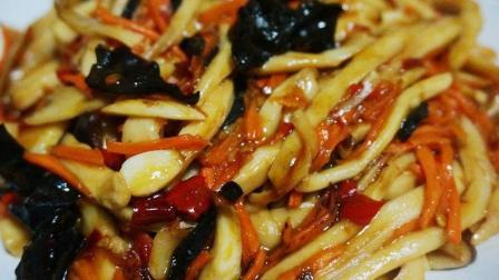 大厨教你鱼香杏鲍菇的做法, 口感嫩滑味道鲜美