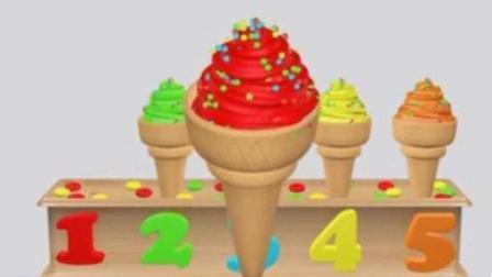 幼儿早教动漫卡通: 做彩色的冰淇淋学习颜色