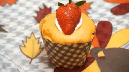 自制超可爱的海绵杯子蛋糕, 做法原来这么简单