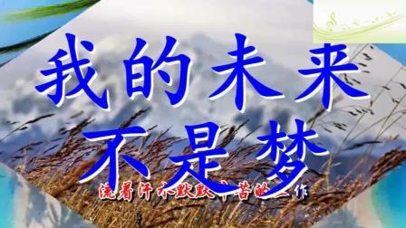 音乐: 张雨生《我的未来不是梦》送给你, 我认真的过每一分钟