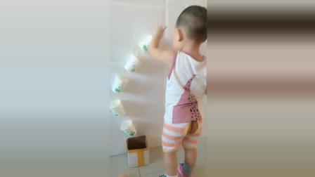 用一次性杯子给宝宝做个玩具, 好玩又环保