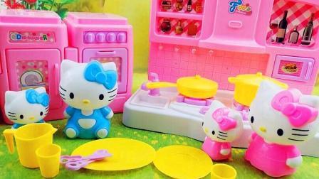 小猪佩奇hello kitty厨房 汪汪队过家家儿童故事