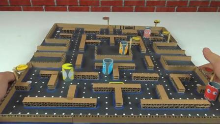 """趣味手工DIY, 教你""""吃豆人""""游戏的简单制作方法, 非常好玩"""