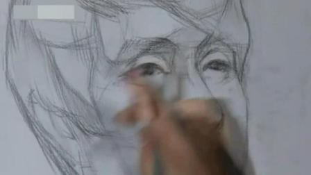 大学设计素描优秀作品 铅笔画狼图片 速写人头