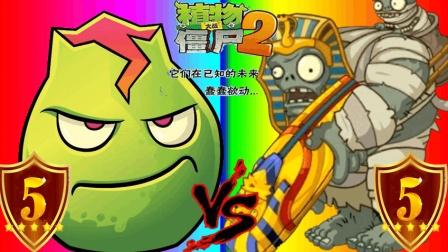 植物大战僵尸2《5级熔岩石榴vs巨人僵尸》