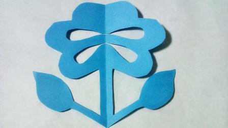 剪纸小课堂小花, 儿童喜欢的手工DIY剪纸, 动手又动脑